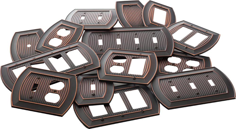 amerock decorative hardware allison single rockersingle outlet wallplate in oil rubbed bronze - Decorative Switch Plate Covers