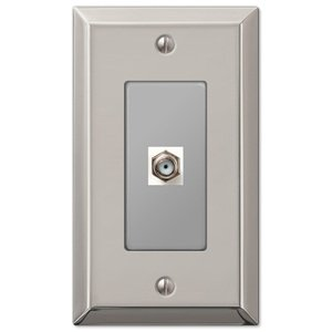 Amerelle Decorative Wallplates - Century - Single Cable Wallplate in Polished Nickel