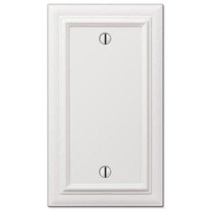 Amerelle Wallplates Continental Single Blank Wallplate In White