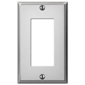 Amerelle Decorative Wallplates - Contractor - Single Rocker Wallplate in Polished Chrome