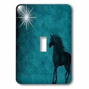 Jazzy Wallplates - Single Toggle Switch Plate With Beautiful Horse