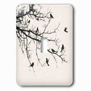 Jazzy Wallplates - Single Toggle Wallplate With Birds On Branches