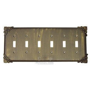 Anne at Home - Corinthia Switchplate Six Gang Toggle Switchplate