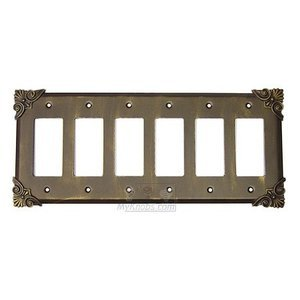 Anne at Home - Corinthia Switchplate Six Gang Rocker/GFI Switchplate