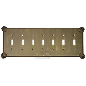 Anne at Home - Oceanus Switchplate Seven Gang Toggle Switchplate