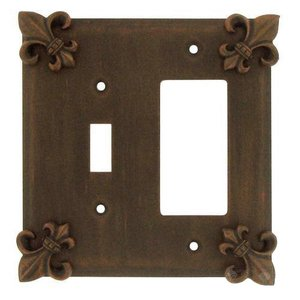 Anne at Home - Fleur De Lis Combo Toggle/Rocker Switchplate