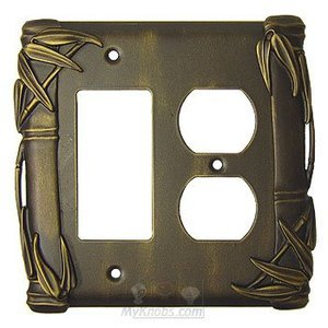Anne at Home - Bamboo Switchplate Combo Rocker/GFI Duplex Outlet Switchplate