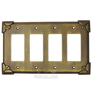 Anne at Home - Pompeii Switchplate Quadruple Rocker/GFI Switchplate
