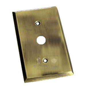 Colonial Bronze Square Bevel Cable Jack Switchplate