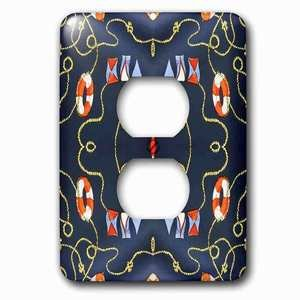 Jazzy Wallplates - Single Duplex Outlet with Nautical Lifesavers