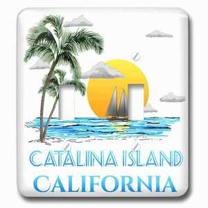 Jazzy Wallplates - Double Toggle Wallplate with Nautical sailing beach design for the Catalina Islands, California.