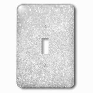 Jazzy Wallplates - Single Toggle Wallplate With Image Of Silver Sparkly Style In Luxury