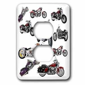 Jazzy Wallplates - Single Duplex Wallplate With Harley-Davidson® Motorcycles