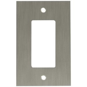 Liberty Kitchen Cabinet Hardware - Concave Single GFI/Rocker in Brushed Nickel Plated