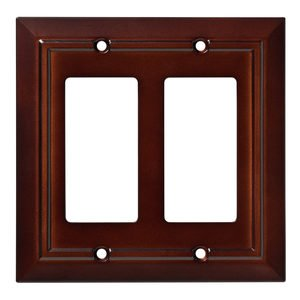 Liberty Hardware - Architectural - Double GFI/Decora Wall Plate in Espresso