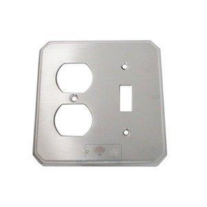 Omnia Switchplates Traditional Combination Switchplate in Satin Chrome