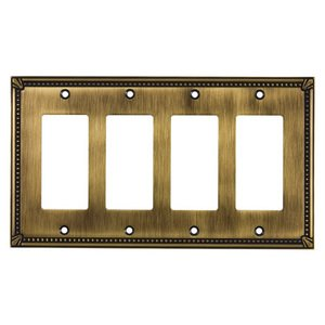 Richelieu Hardware - Switchplates - Traditional Quadruple GFI/Rocker in Antique English