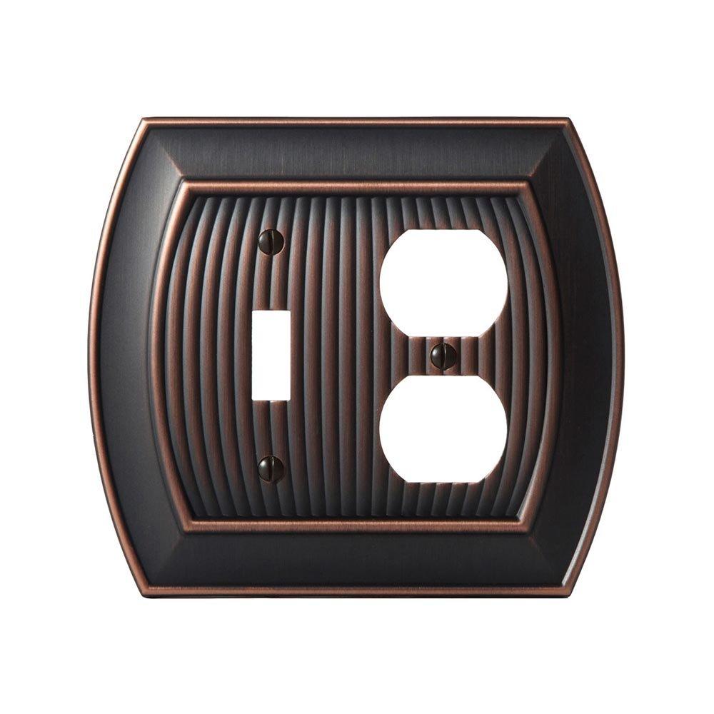 amerock allison single outlet wallplate in oil rubbed bronze