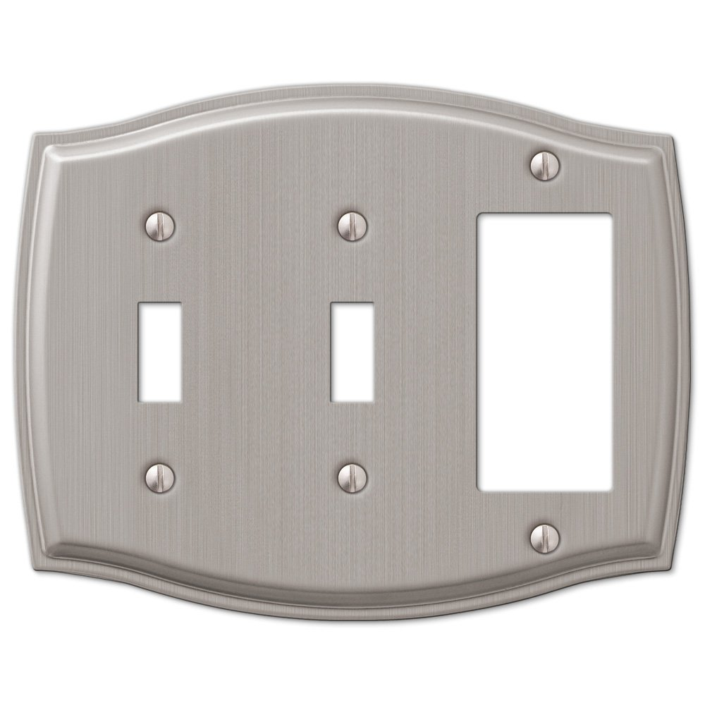 amerelle wallplates sonoma single blank wallplate in brushed nickel