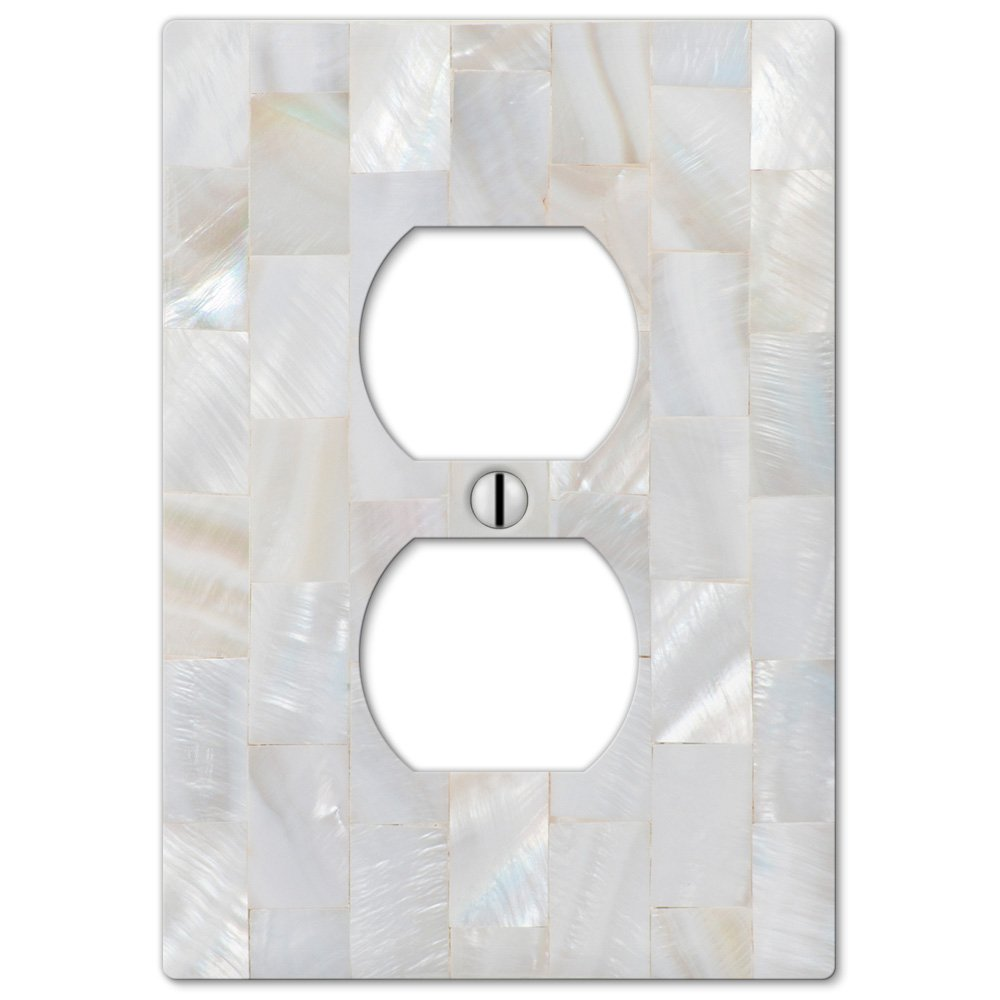 Justswitchplates offers amerelle wallplates amr 217443 outlet amerelle wallplates pearl capiz single duplex wallplate in mosaic pearl amipublicfo Image collections