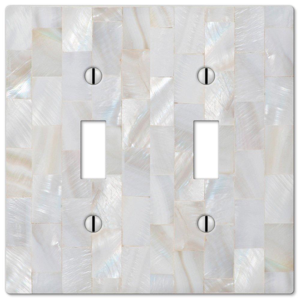 amerelle wallplates pearl capiz single duplex wallplate in mosaic pearl