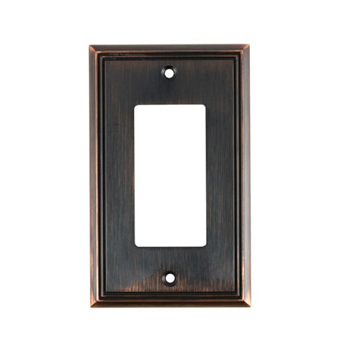 Richelieu Hardware Switchplates Contemporary Single Gfi Decora In Brushed Oil Rubbed Bronze