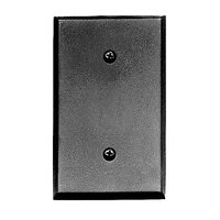 Acorn MFG - Steel Switchplates - Single Blank Wallplate in Black