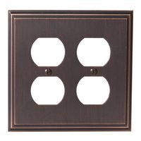 Amerock - Mulholland - Double Outlet Wallplate in Oil Rubbed Bronze