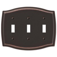 Amerelle Wallplates - Sonoma - Triple Toggle Wallplate in Aged Bronze