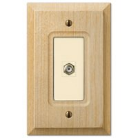 Amerelle Wallplates - Baker - Single Cable Wallplate in Unfinished Alder Wood