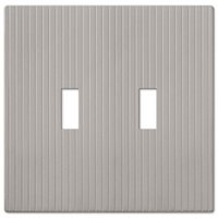 Amerelle Wallplates - Mies Screwless - Double Toggle Wallplate in Satin Nickel