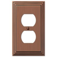 Amerelle Wallplates - Steps - Single Duplex Wallplate in Antique Copper
