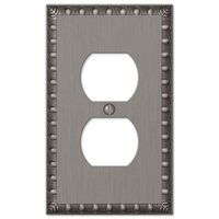 Amerelle Wallplates - Egg and Dart - Single Duplex Wallplate in Antique Nickel