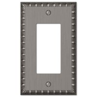 Amerelle Wallplates - Egg and Dart - Single Rocker Wallplate in Antique Nickel