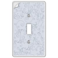 Amerelle Wallplates - Wallpaper - Paper-It Clear Composite Single Toggle Wallplate in Clear