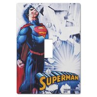 Amerelle Wallplates - Juvenile - Superman Single Toggle Wallplate in Painted