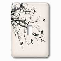 Jazzy Wallplates - Animals - Single Toggle Wallplate With Birds On Branches