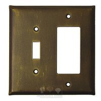Anne at Home - Plain - Plain Switchplate Combo Rocker/GFI Single Toggle Switchplate in Pewter Matte