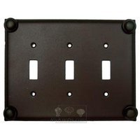 Anne at Home - Button - Button Switchplate Triple Toggle Switchplate in Pewter Matte