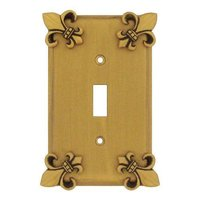 Anne at Home - Fleur De Lis - Fleur De Lis Single Toggle Switchplate in Pewter Matte