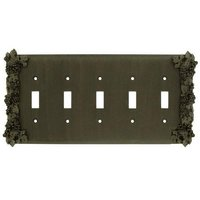 Anne at Home - Grapes - Grapes Five Gang Toggle Switchplate in Pewter Matte