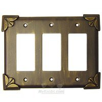 Anne at Home - Pompeii - Pompeii Switchplate Triple Rocker/GFI Switchplate in Pewter Matte