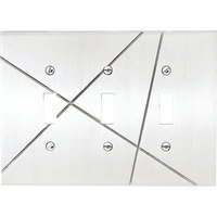 Atlas Homewares - Modernist - Triple Toggle Switchplate in Polished Chrome