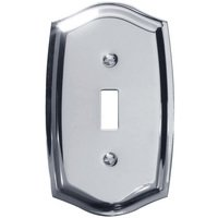 Baldwin Hardware - Switchplates - Single Toggle Colonial Switchplate in Polished Chrome