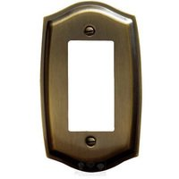 Baldwin Hardware - Switchplates - Single GFI/Rocker Colonial Switchplate in Satin Brass & Black