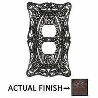 Carpe Diem Hardware - Acanthus - Single Duplex Outlet in Chalice