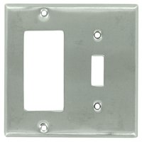 Deltana Hardware - Solid Brass Switchplates - Solid Brass Single Toggle/Single Rocker Combination Switchplate in Brushed Chrome