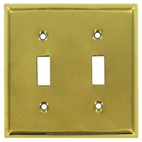 Deltana Hardware - Solid Brass Switchplates - Solid Brass Double Toggle Switchplate in PVD Brass