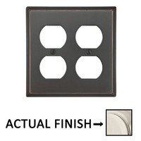 Emtek Hardware - Switchplates - Double Outlet Colonial Wallplate in Medium Bronze