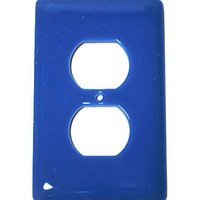 Hot Knobs - Solids Switchplates - Single Outlet Glass Switchplate in Egyptian Blue